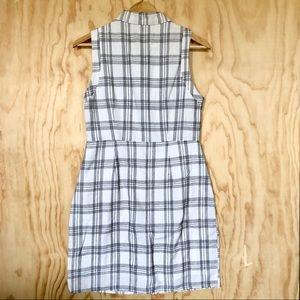 Dresses - White and Black Grid Dress